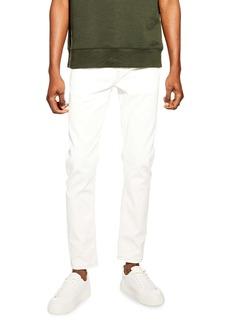 Topman Stretch Skinny Fit Jeans (Stone)