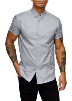 Topman Stretch Skinny Fit Oxford Shirt