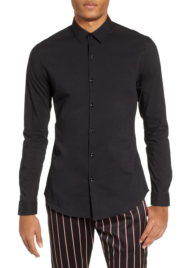 Topman Stretch Woven Shirt