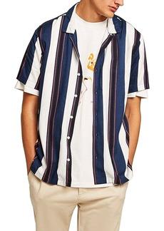 Topman Stripe Camp Shirt