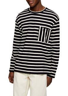 Topman Stripe Cotton Pullover