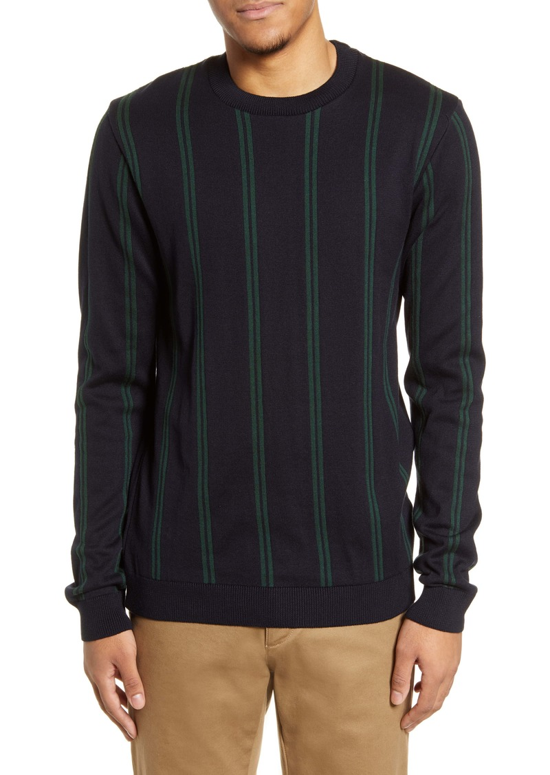 Topman Stripe Crewneck Sweater