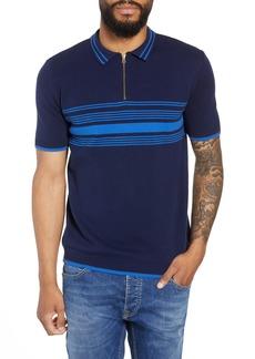 Topman Stripe Knit Polo