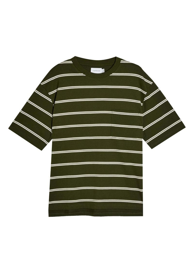 Topman Stripe Oversize Pocket T-Shirt