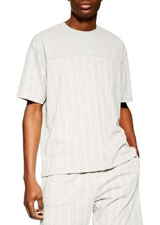 Topman Stripe Oversize T-Shirt