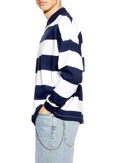 Topman Stripe Rugby Sweatshirt