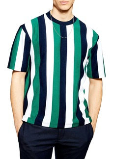 Topman Stripe Short Sleeve Sweatshirt