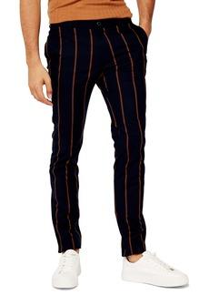 Topman Stripe Skinny Fit Pants