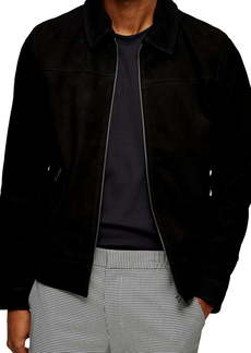 Topman Suede Harrington Jacket