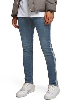Topman Tape Stretch Skinny Fit Jeans