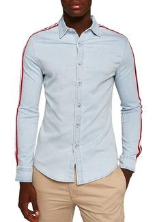 Topman Taping Denim Shirt