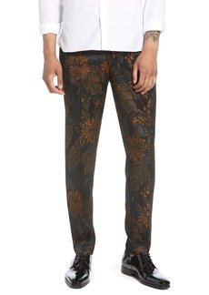 Topman Tego Floral Jacquard Skinny Fit Trousers