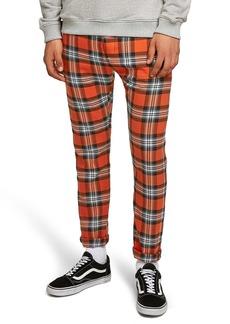 Topman Terry Check Skinny Pants