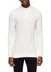 Topman Texture Block Polo Sweater