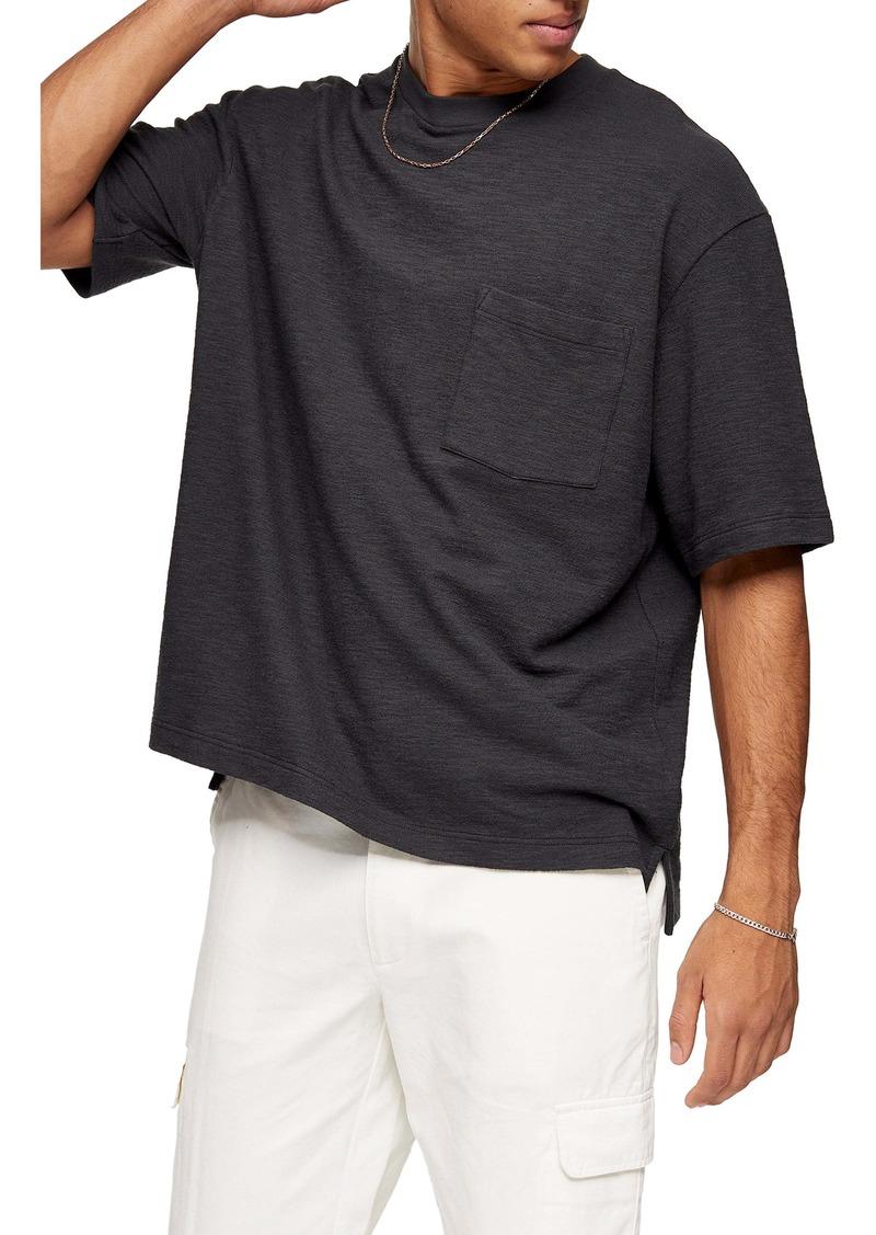Topman Textured Oversize Pocket T-Shirt