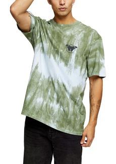 Topman Tie Dye Butterfly T-Shirt