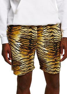 Topman Tiger Print Shorts