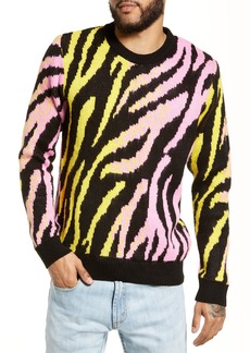 Topman Tiger Stripe Classic Fit Sweater