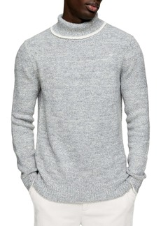 Topman Tipped Roll Neck Sweater