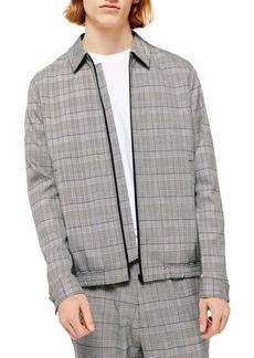 Topman Trim Fit Check Jacket