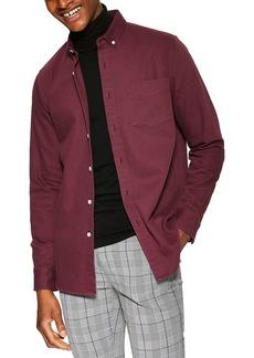 Topman Twill Slim Fit Shirt