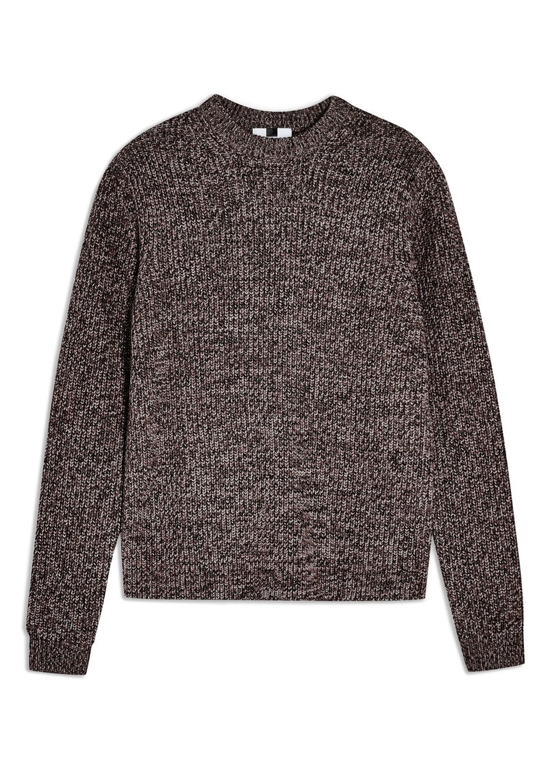 Topman Twist Mock Neck Sweater