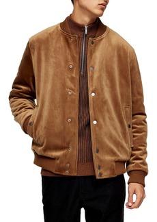 Topman Velvet Bomber Jacket