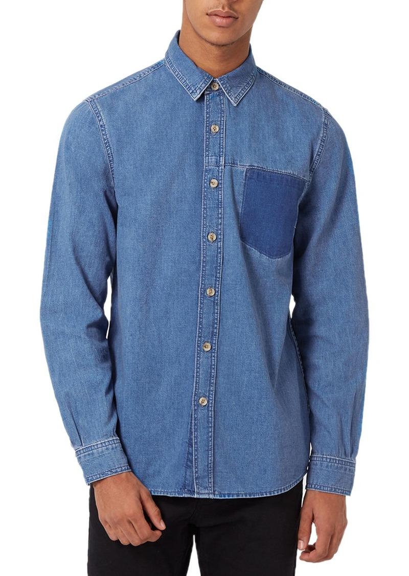 Topman Vintage Denim Shirt