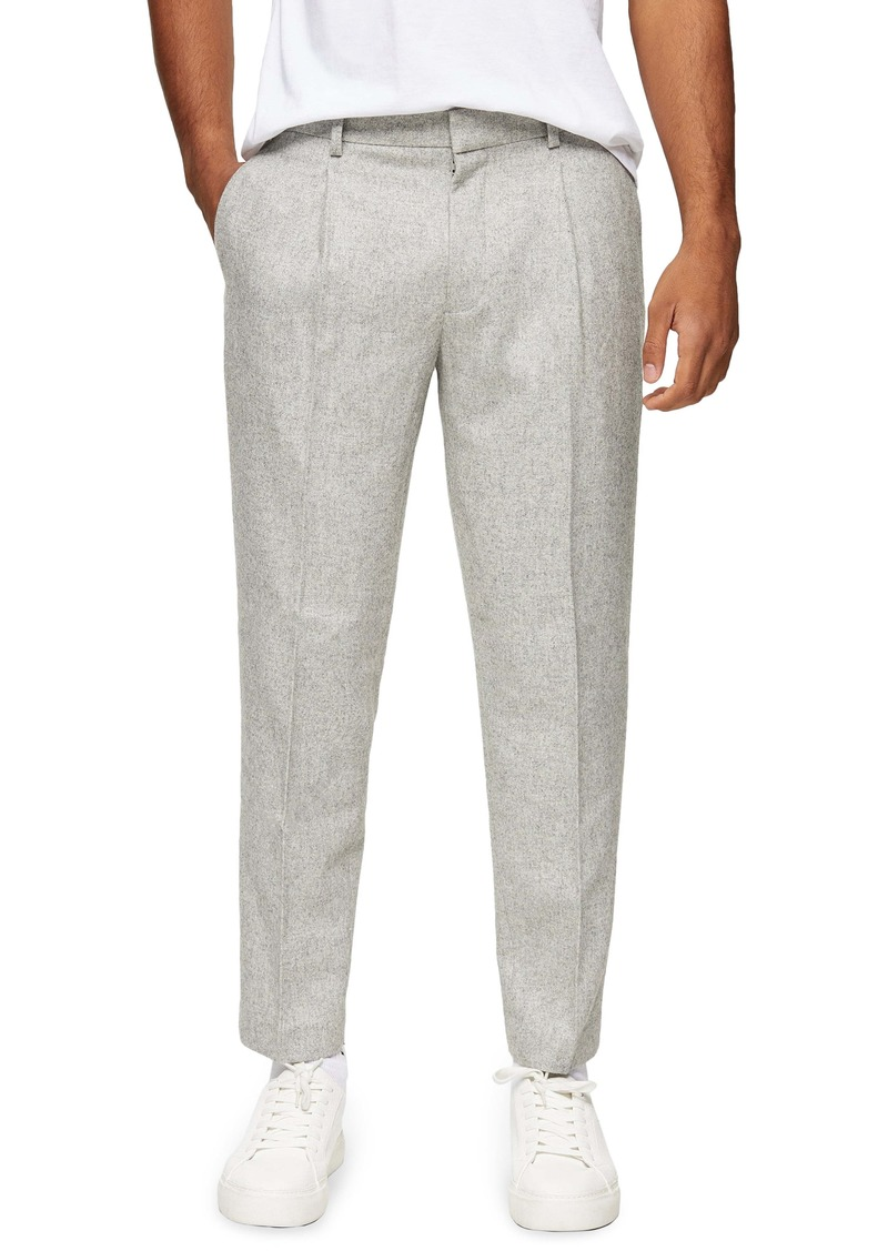 Topman Warm Handle Smart Tapered Trousers