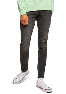 Topman Washed Skinny Fit Jeans