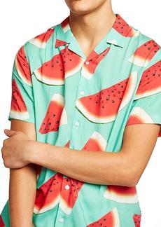 Topman Watermelon Print Shirt