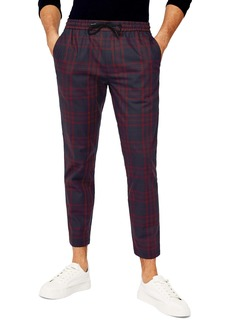 Topman Whaytt Check Stretch Skinny Pants