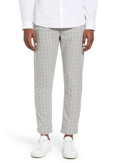 Topman Whyatt Check Slim Fit Dress Pants