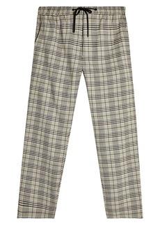 Topman Whyatt Plaid Straight Leg Trousers