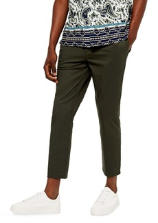 Topman Whyatt Skinny Fit Crop Drawstring Pants