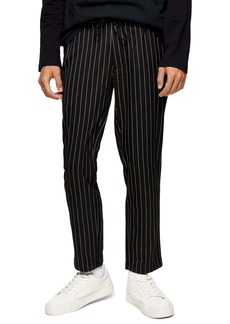 Topman Whyatt Slim Fit Stripe Drawstring Pants