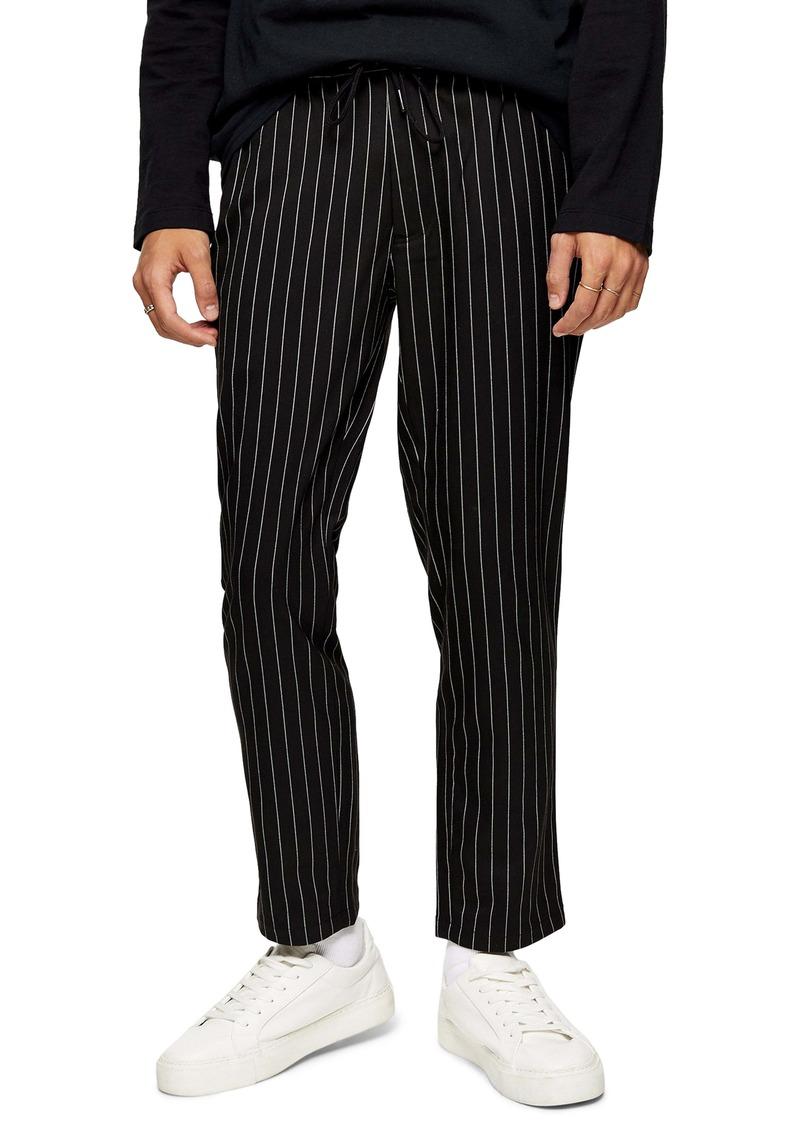 Topman Whyatt Slim Fit Stripe Drawstring Pants