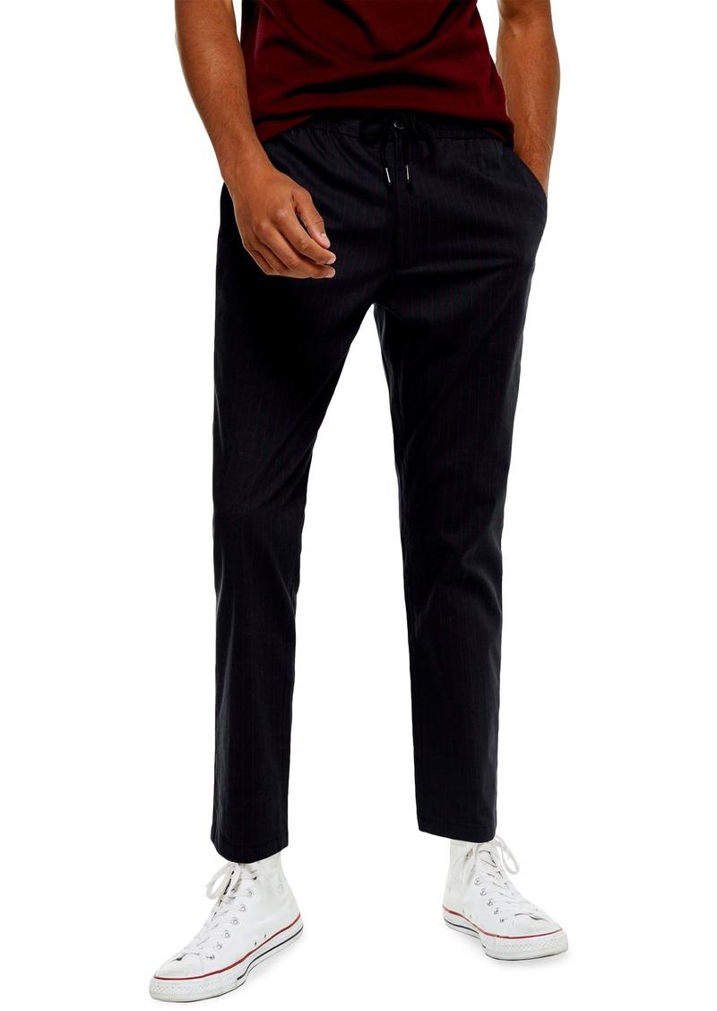 Topman Whyatt Stripe Slim Fit Pants