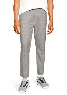 Topman Windowpane Check Crop Trousers