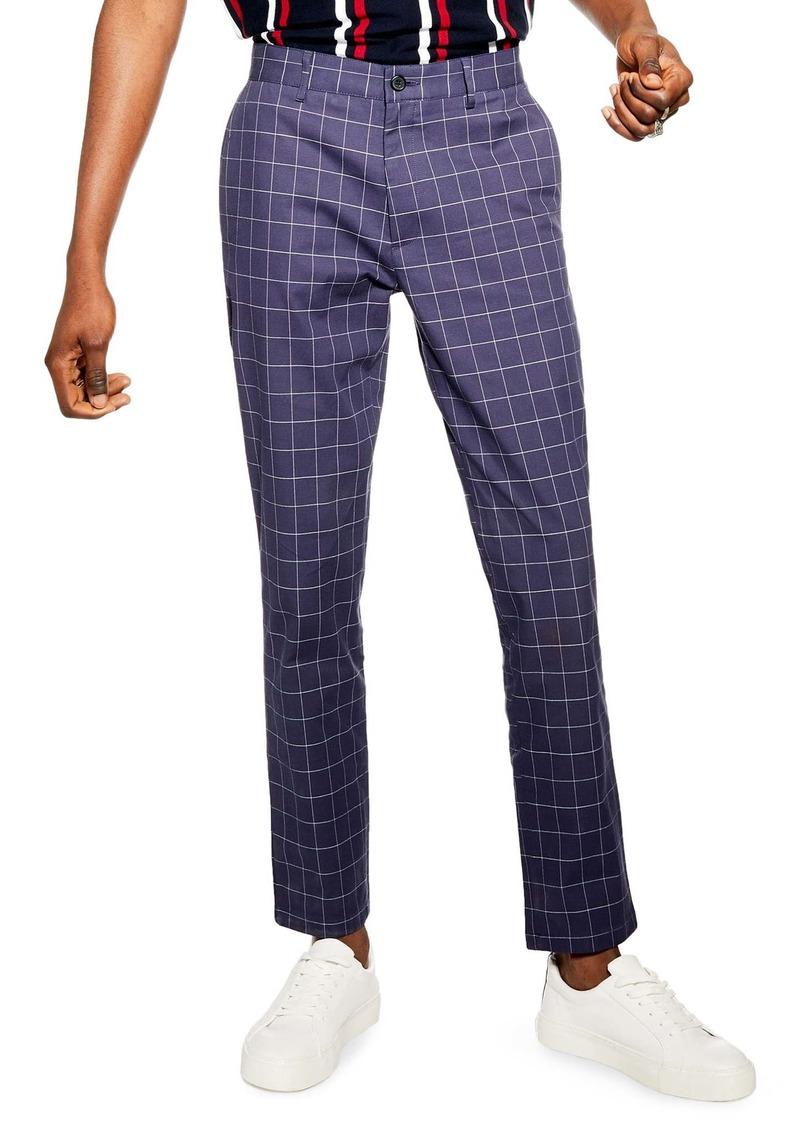 Topman Windowpane Dress Pants