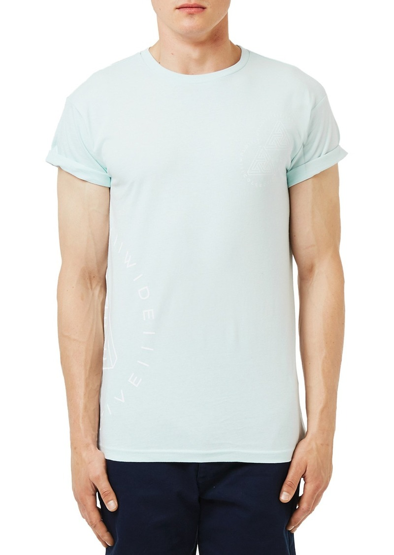 Topman 'Worldwide Collective' Graphic Muscle T-Shirt