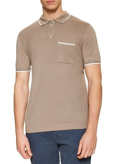 Topman Zip Polo Shirt