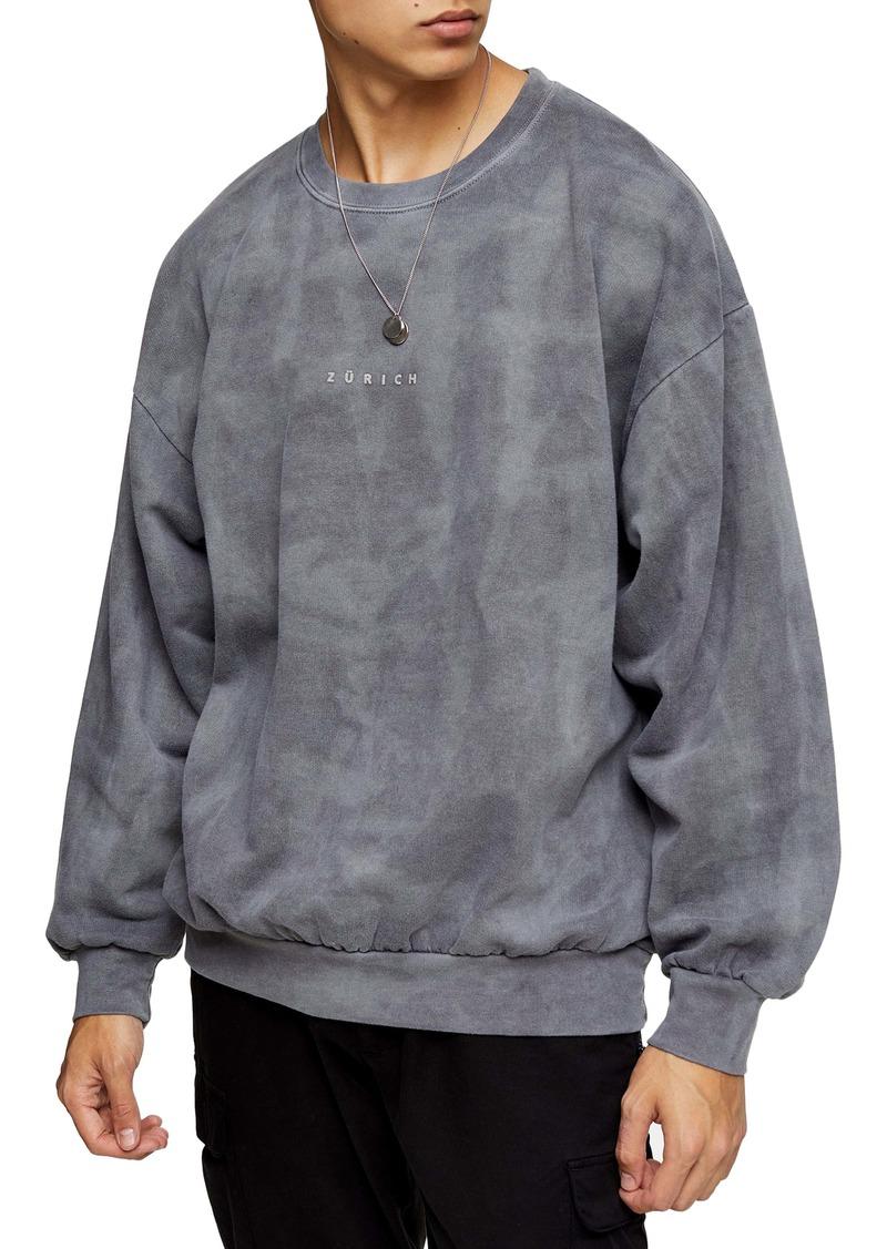 Topman Zürich Oversize Crewneck Sweatshirt