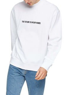 Topman Topmman The Future Men's Mock Neck Sweatshirt