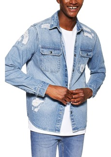 Topman Denim Slim Fit Shirt