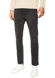 Topman Washed Stretch Slim Fit Jeans