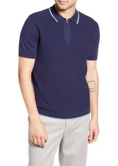 Topman Trim Fit Zip Sweater Polo
