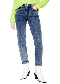 Topshop Acid Wash High Waist Mom Jeans