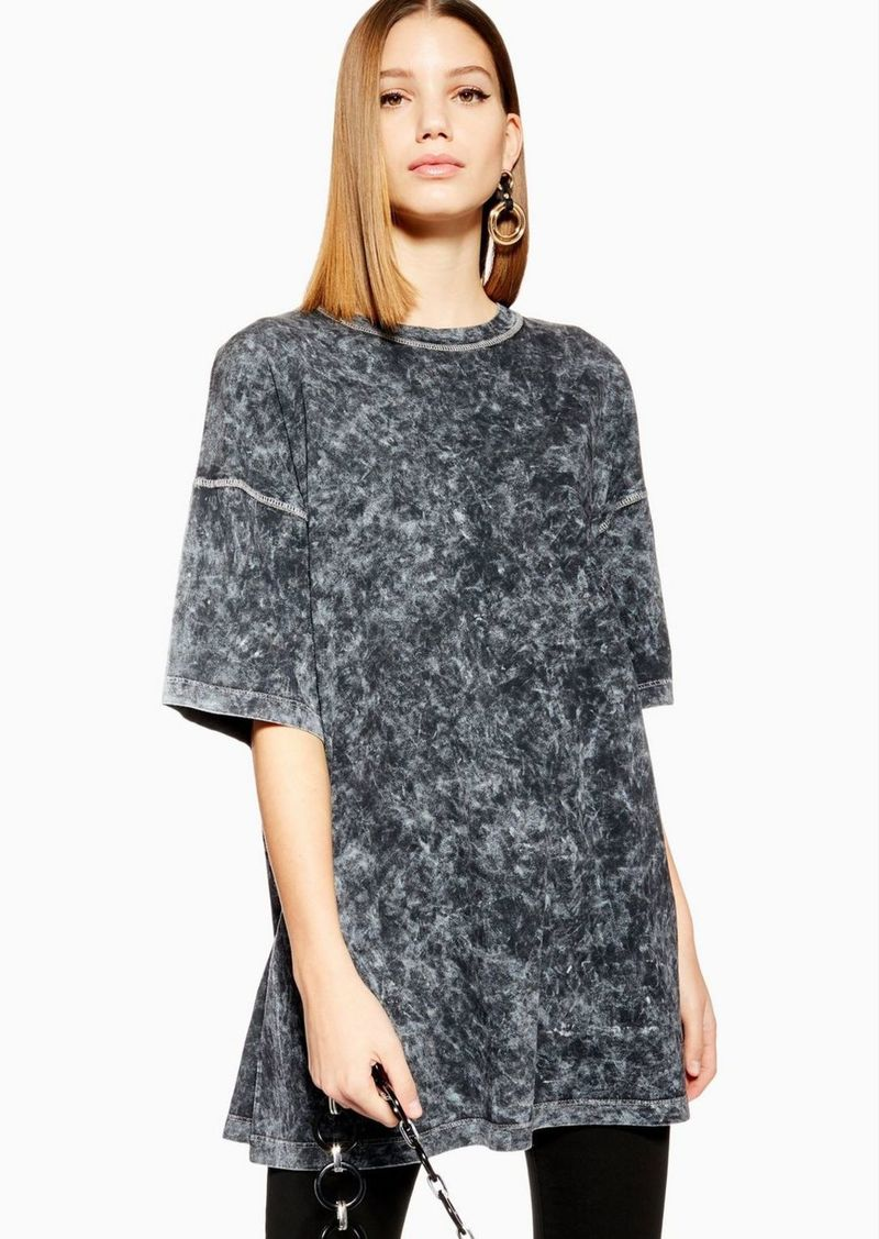 Acid Wash Oversized T Shirt