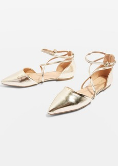 Topshop Albany Cross Strap Pointed Sandals